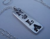 necklace - NOLA fleur de lis design in fine silver
