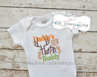 Daddy's new hunting buddy - new baby boy - baby shower gift - new dad - new father - newest hunter - future hunter