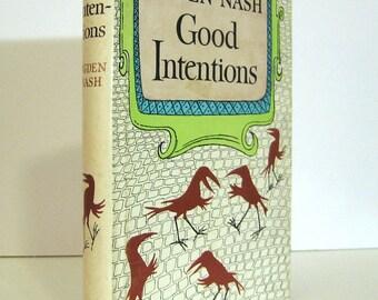 Maurice Sendak Dust-Jacket Art on Good Intentions by Ogden Nash Vintage Book Humorous Verse Poetry Book