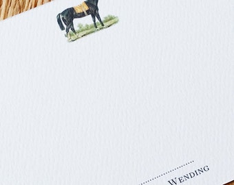 Horse Equestrian Personalized, Small Flat Notes, 15 per Set