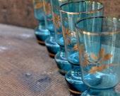 Vintage Aqua Blue Juice G...