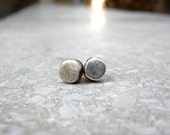 Geometric Round silver stud posts earrings , sterling silver plated oxidised silver , unisex men woman , abstract minimalist earrings