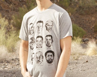 seattle SUPERSONICS legends HEATHER grey t-shirt SHAWN kemp Payton and more