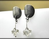 """RESERVED for """"B"""" - sale 20% dotted  silver earrings, modern jewelry, post stud earrings, Christmas gift"""