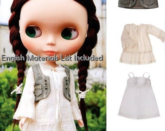 Blythe Vest, Tunic Dress and Under Dress Sewing Pattern PDF English templates names, English material list and sewing info included