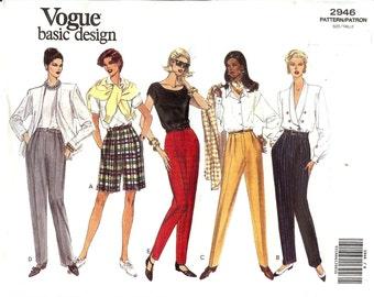 Vogue PLUS SIZES UNCUT Basic Design Pattern 2946 - Misses/Misses Petite Very Easy Shorts & Pants - 20-24