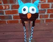 Handmade Crochet Owl Hat