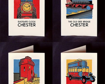 Comic Book Chester Cards with Envelopes - Pack of 8 Designs