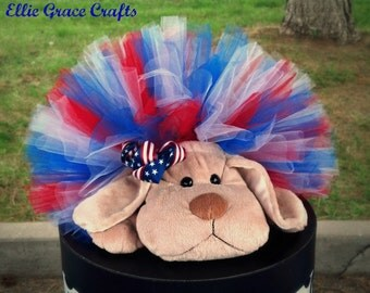 4th Of July Dog Tutu:  Red, White, & Blue Patriotic Dog Tutu - XS, Small, Medium, Large, or XL