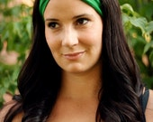Emerald Knit Turban Wrap Headband