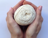 Cotton yarn, hand dyed yarn, off-white, natural, double knit DK *SALE 25% OFF*