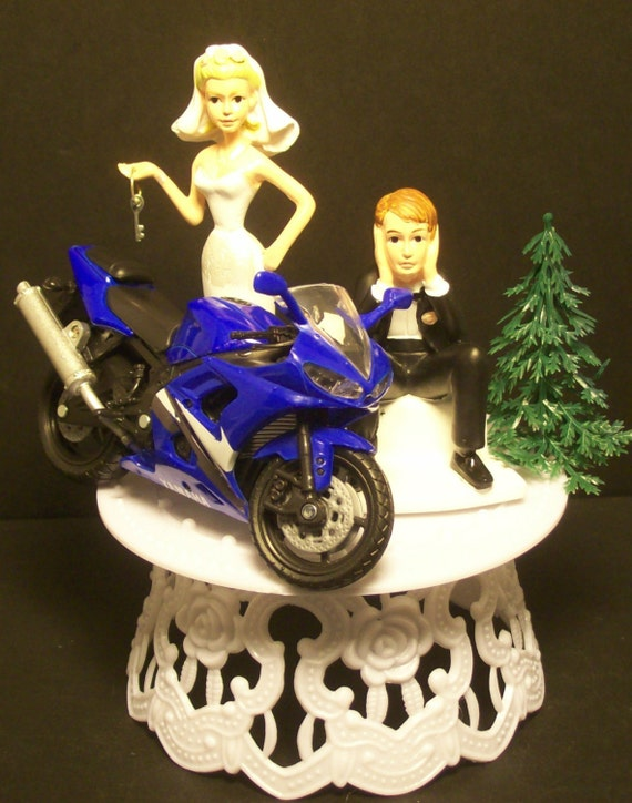 motorcycle wedding cake topper motorcycle yamaha r6 yzf bike or your bike and 17614