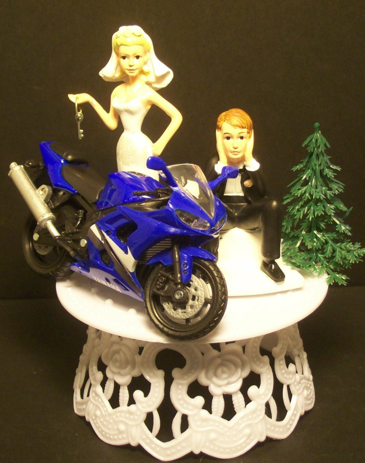 funny motorbike wedding cake topper motorcycle yamaha r6 yzf bike or your bike and 14558