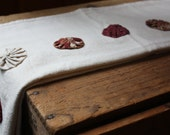 Country Farmhouse Flour Sack  Dish Towels, Yoyos, Barn Reds, Antique White