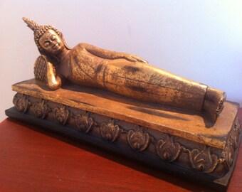 Reclining Buddha Statue - Asian Zen Figurine - Feng Shui or Spiritual Religious Ornament Gift