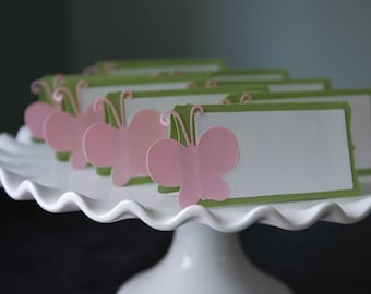 Butterfly Food Labels, Place Cards, Butterfly Party, Butterfly Baby Shower, Butterfly Birthday,12 Pcs