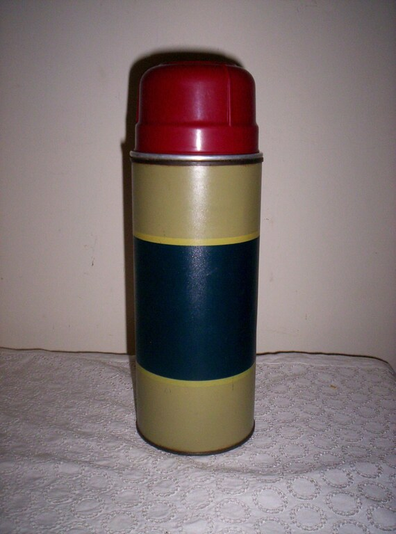 Vintage 1 Quart Thermos Vacuum Bottle Original Cork Stopper by Aladdin Just 9 USD