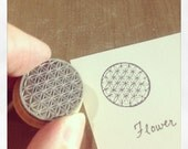 Flower of Life Rubber Stamp MIX Y005