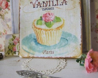 Vanilla Cupcake Sign/Print for Dollhouse