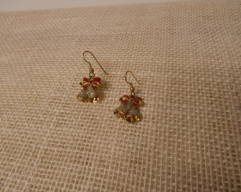 Vintage bows and bells pierced earrings V0026
