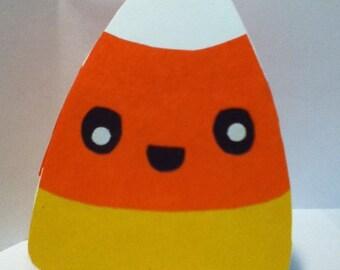 Handmade Kawaii Candy Corn Card -Cardstock