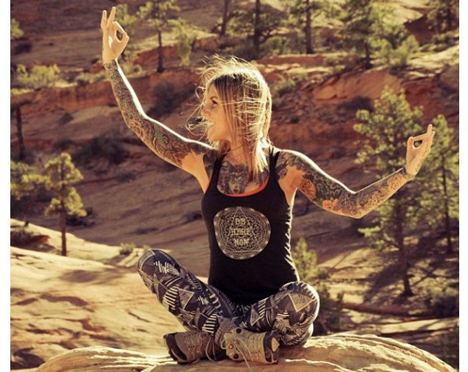 BE HERE NOW Racerback Tank