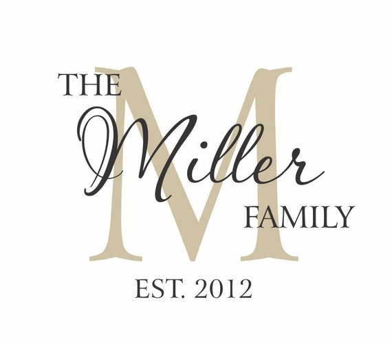 Items Similar To Family Name Decal Vinyl Wall Decals