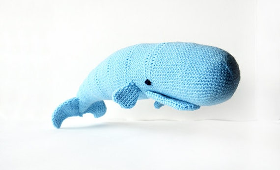 Moby Dick the Whale Crochet Pattern Whale Amigurumi Pattern