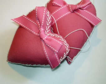 One Hand Embroidered Pink Valentine Heart