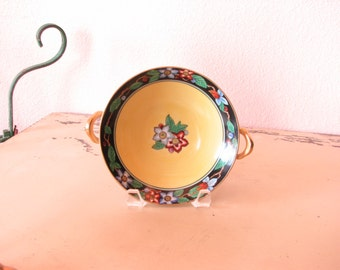 Noritake Two Handled Nut/Candy Dish Hand Painted - Made in Japan