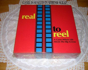 """REAL To REEL GAME Great Vint 1989 Movie Game""""Where Life MeetsThe Big Screen Unopened"""