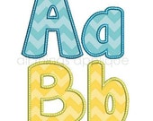 Happy Applique Alphabet - 26 Letters - Upper and Lower - 3 Sizes - Machine Embroidery Design - INSTANT DOWNLOAD