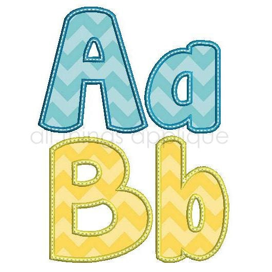 Happy applique alphabet letters upper and lower