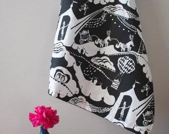 Screen Printed Tea Towel / Dish Cloth in Enter the Magician print