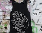 "SALE Woman Tanktop Classic T-Shirt ""Amitola"" white black S M L"