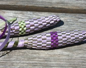 Mixed Colors - lilac - Organic Lavender Wand - Woven from Freshly Picked Flowers from my Garden - Wedding Gift - Made in Canada
