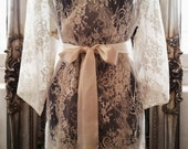 French Lace robe/ dressing gown in Kate Middleton lace
