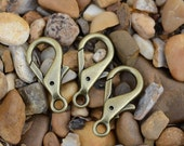 Lobster Claw Clasp Antique Bronze - 10 Count