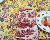 a set of 4 dinner size napkins, 100% cotton, custom