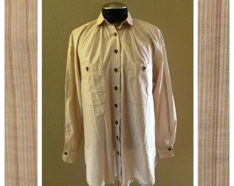 Vintage Menswear Blouse by Mary Tyler Moore Costumer Norman Todd Size Large