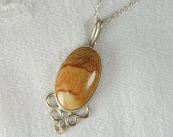 Artisan Necklace Earthy Necklace Natural Stone Necklace Southwestern Jewelry Desert Jasper Pendant Artisan Jewelry