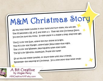 M&M Christmas Story Stocking Stuffer Winter Gag Gift Design - DIY Printable