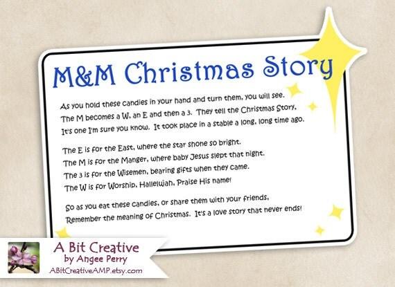 M&M Christmas Story Stocking Stuffer Winter Gag Gift Design