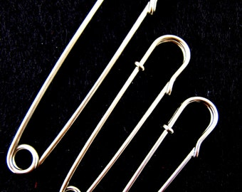 10 x Kilt Pins / Skirt Pins / Shawl Pins - 60/70/100mm ( 2, 3 & 4 inch)
