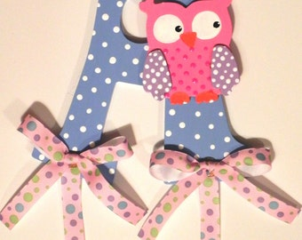 Hand painted Owl Bow Holder