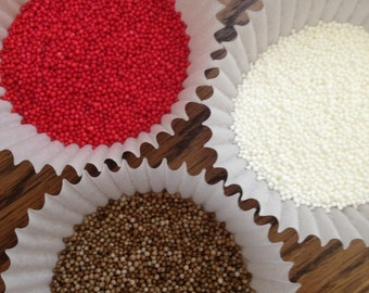 Gingerbread ~ Nonpareil ~ Sprinkles ~ Red ~ Brown ~ White