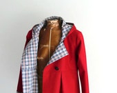 Maternity Winter Swing Coat in Corduroy Wool or Tweed Optional Hood Fully Lined for Warm Winter Outerwear