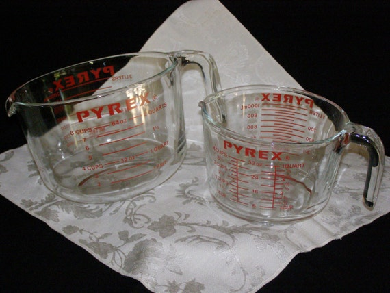 pyrex glass measuring cups 4 cup 8 cup continuing to by parkie2. Black Bedroom Furniture Sets. Home Design Ideas