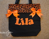 Personalized Canvas Halloween Candy Trick or Treat Bag