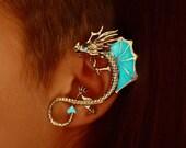 "DRAGON ear cuff clip ""GLOW in the DARK"